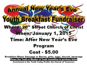 2015 Youth New Year's Breakfast